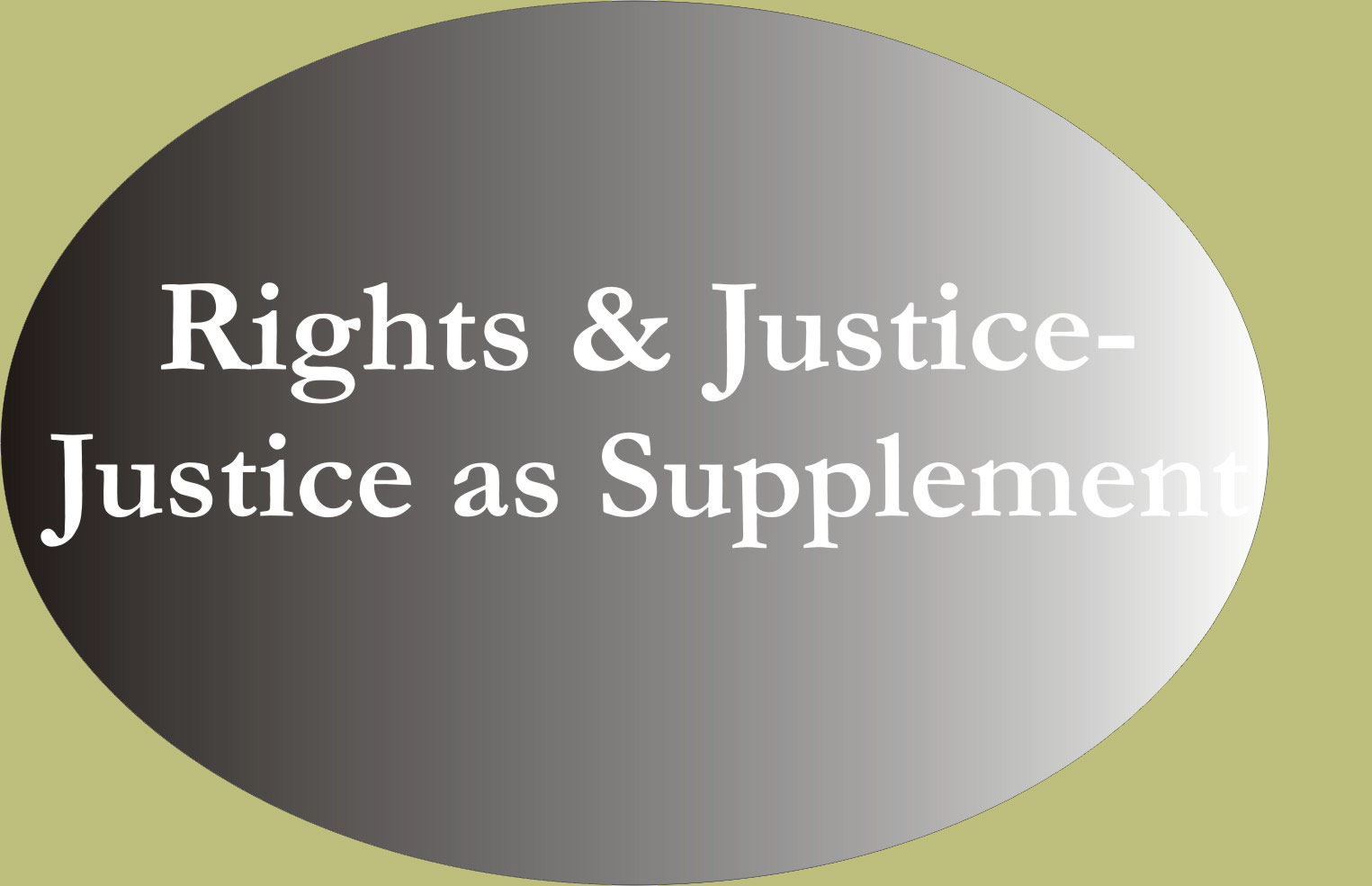 Rights and Justice-Justice as Supplement